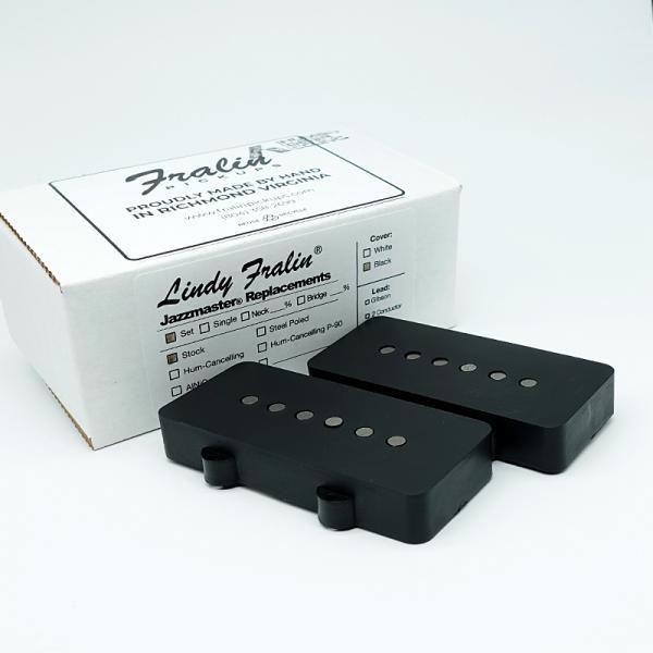 Lindy Fralin Jazzmaster Pickup Set / Black Cover
