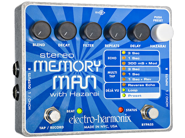 Electro Harmonix ( エレクトロハーモニクス ) Stereo Memory Man with Hazarai
