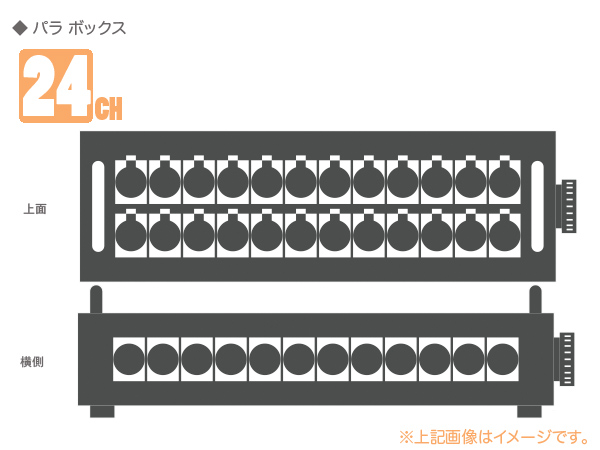 CANARE ( カナレ ) 24B12MS(F77) ◆ 24ch パラボックス ・D/MS3102A32A-10P×1