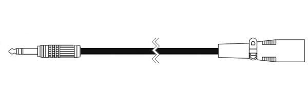 CANARE ( カナレ ) SPC02-B2(XX) 黒 ◆ 音声ケーブル ・2m  NC3(オス)・ステレオフォン(オス)