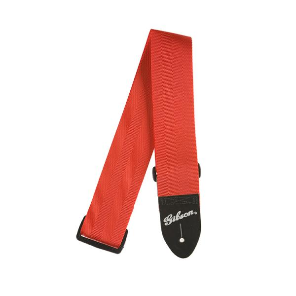 "Gibson ( ギブソン ) ASGSB-20: Regular style 2"" Safety Strap - Ferrari Red"