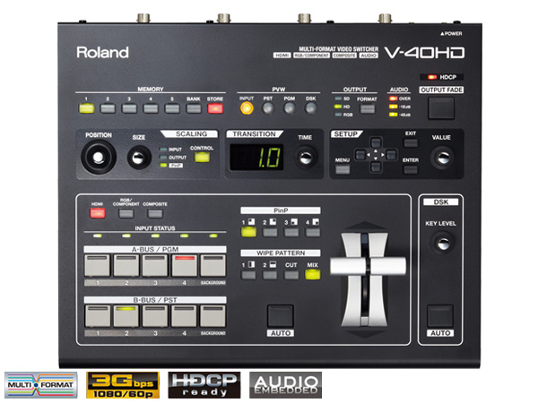 Roland ( ローランド ) V-40HD ◆ Multi-Format Video Switcher