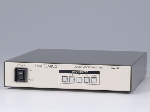IMAGENICS ( イメージニクス ) SW-41 ◆ 4入力1出力 映像、音声(ステレオ、アンバランス)スイッチャー
