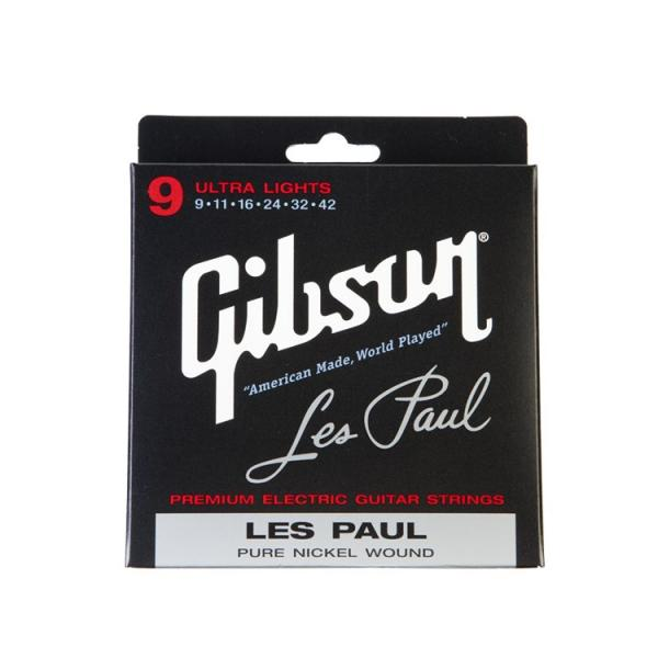 Gibson ( ギブソン ) Les Paul Signature Electric Guitar Strings / Ultra Lights - .009 - .042 / SEG-LP9