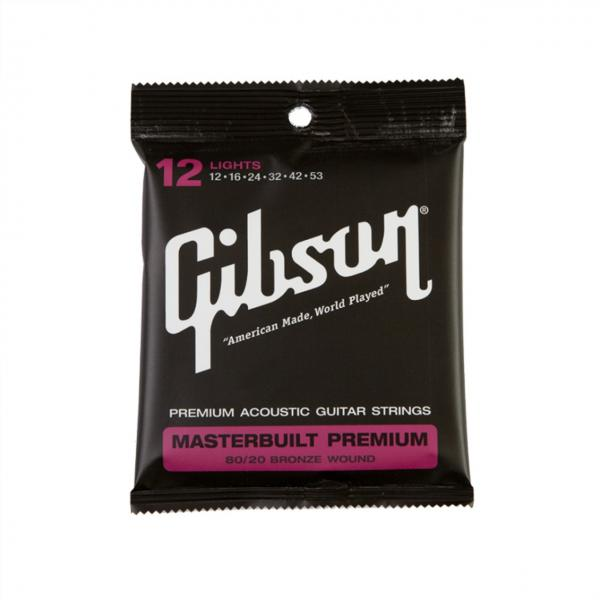 Gibson ( ギブソン ) Masterbuilt Premium 80/20 Brass Acoustic Guitar Strings/ Lights - .012 - .053 / SAG-BRS12