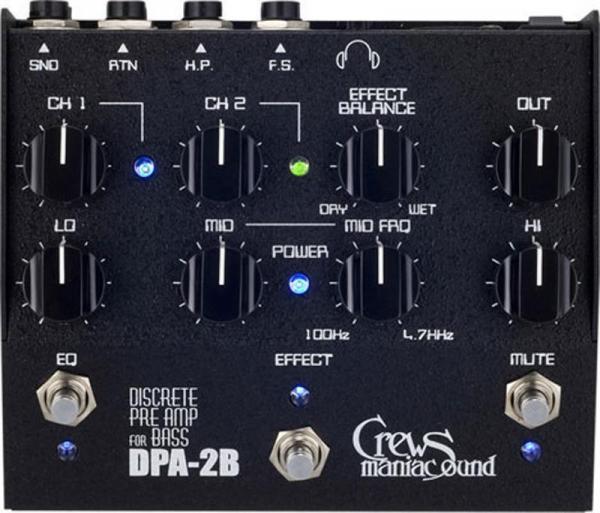 Crews Maniac Sound ( クルーズ ) DPA-2B /Discrete Preamp For Bass 【ベース用プリアンプ !】