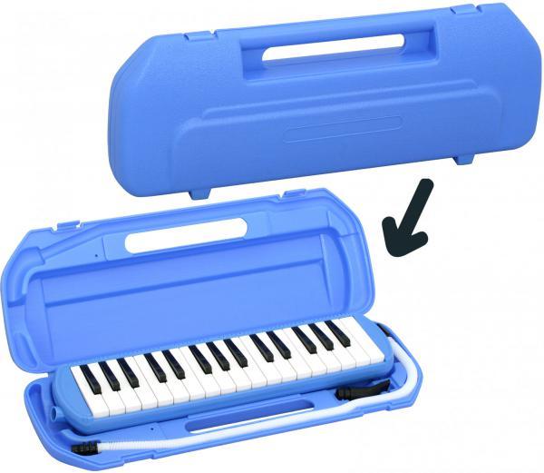 Kikutani ( キクタニ ) ブルー 32鍵 鍵盤ハーモニカ 1台 立奏用唄口 卓奏用パイプ 楽器 ケース 青色 鍵盤楽器 MELODY MATE PIANO MM-32 BLUE 北海道 沖縄 離島不可