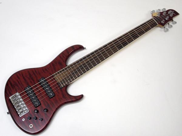 Sago New Material Guitars Ridill 6 / Transparent Red 【サーモウッド  6弦 ベース   】