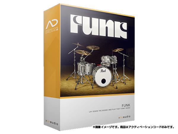 xlnaudio ( エクスエルエヌ オーディオ ) Addictive Drums 2:  Funk  ◆【ADpak】【ダウンロードコード商品】
