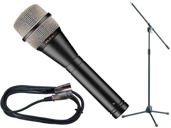 Electro-Voice ( EV エレクトロボイス ) PL80a TAMAブラックマイクスタンドSET (XLR-XLR)