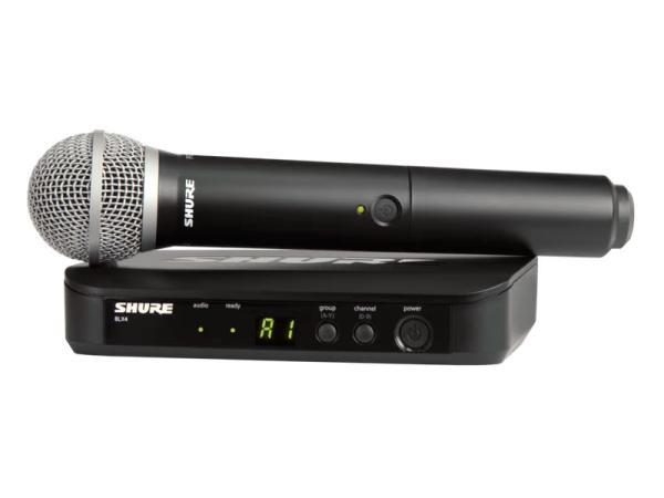SHURE ( シュア ) BLX24/PG58 ◆ ハンドヘルド型 ワイヤレスシステム