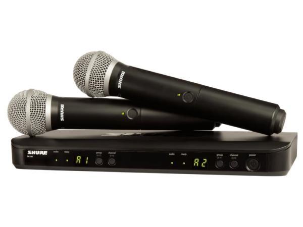 SHURE ( シュア ) BLX288/PG58 ◆ デュアルチャンネル ハンドヘルド型 ワイヤレスシステム