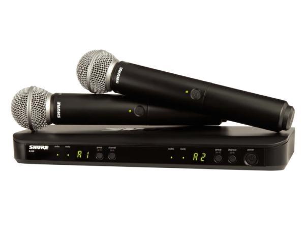 SHURE ( シュア ) BLX288/SM58 ◆ デュアルチャンネル ハンドヘルド型 ワイヤレスシステム BLX288J/SM58-JB