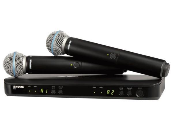 SHURE ( シュア ) BLX288/BETA58 ◆ デュアルチャンネル ハンドヘルド型 ワイヤレスシステム
