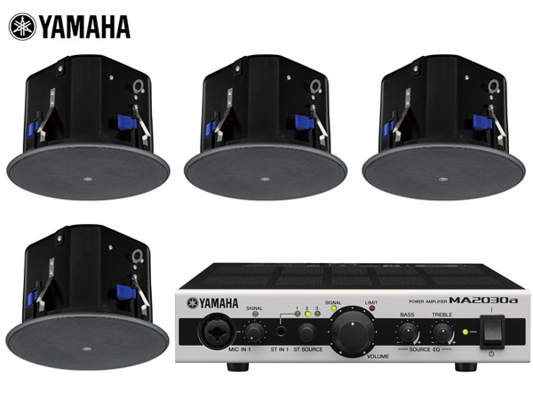 YAMAHA ( ヤマハ ) VXC6 (2ペア) 天井埋込セット(MA2030a)