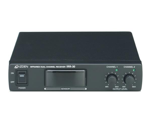 AZDEN ( アツデン ) IRR-30 ◆ 2ch赤外線ワイヤレスシステム