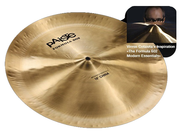 "Paiste ( パイステ ) FORMULA 602 MODREN ESSENTIALS CHINA 18"" ☆ チャイナ"