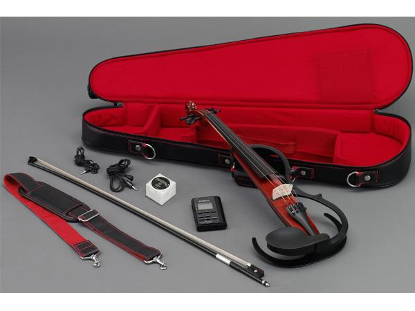 YAMAHA ( ヤマハ ) Silent violin SV150S BR ブラウン サイレントバイオリン カーボン弓 ケース 松脂 セット エフェクト エレキバイオリン 4/4サイズ 弦楽器