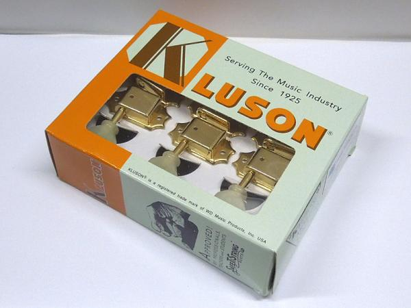 Kluson 3 per side / Plastic Buttons / Gold < for Gibson LP / SG / ES etc. >