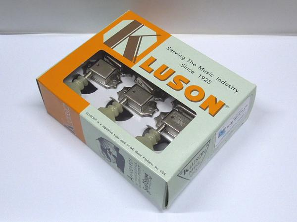 Kluson 3 per side / Plastic Buttons / Nickel / DRDR< for Gibson LP / SG etc. >