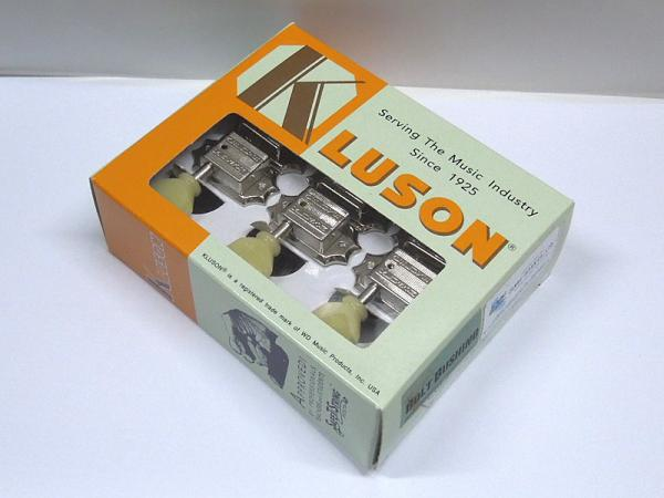 Kluson 3 per side / Plastic Buttons / Nickel / Bolt Bush
