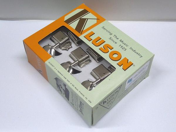 Kluson 6 in line / Metal Buttons / Nickel / No Letter < for Fender ST / TL etc. >