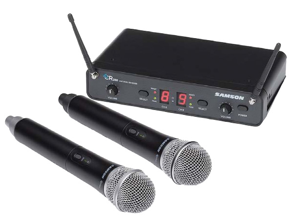 SAMSON ( サムソン ) ESWC288HQ6J-B ◆ ハンドヘルドマイクロフォン デュアルワイヤレスシステム for ボーカル スピーチ