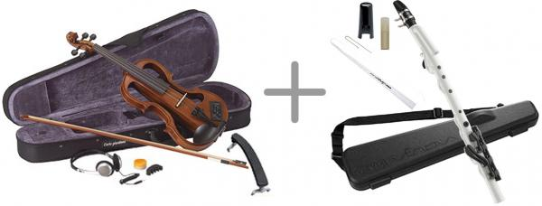 CarloGiordano ( カルロジョルダーノ ) EV-202 NA 4/4サイズ 【 ナイロン弦仕様 調整済み】◆ Silenzia violin サイレントバイオリン
