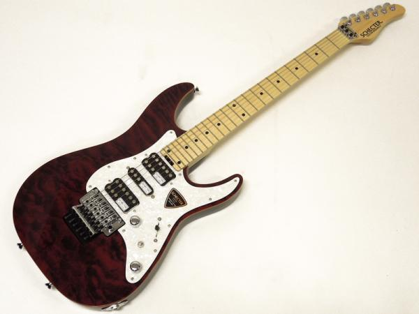SCHECTER ( シェクター ) SD-2-24-AL / See-Thru Red / Maple Fingerboard