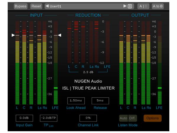 NuGen Audio ( ニュージェン オーディオ ) ISL 2  True Peak Limiter