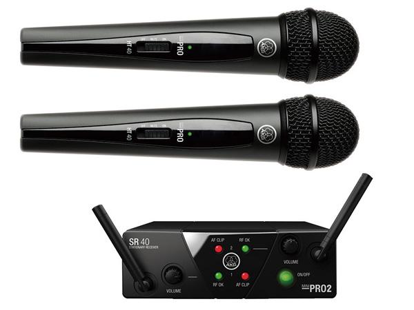 AKG ( エーケージー ) WMS40 PRO MINI2 VOCAL SET DUAL ◆ ワイヤレスシステム 2チャンネルモデル