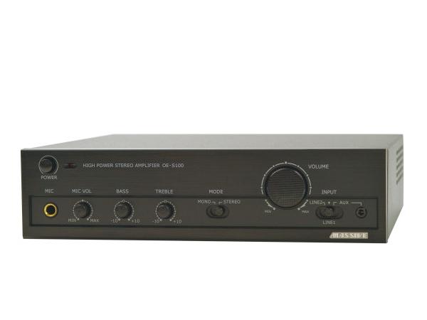 MASSIVE ( マッシブ ) OE-S100 ◆ パワーアンプ ( ハイ・ロー兼用 ) デジタルパワーアンプ ステレオ