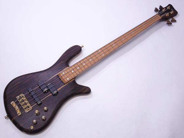 Warwick ( ワーウィック ) Custom Shop Streamer Stage I 4st Custom Ziricote Top / Natural Oil Finish & Green LED