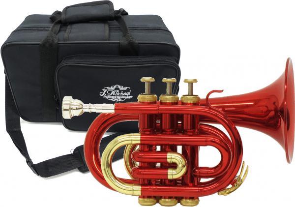 J Michael ( Jマイケル ) TR-400PCL ポケットトランペット レッド 新品 アウトレット B♭調 ミニ トランペット 管体 カラー 赤色 管楽器 初心者 TR400PCL red