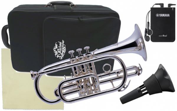 J Michael ( Jマイケル ) CT-470S コルネット 銀メッキ 新品 ショート 管楽器 本体 B♭ 管体 cornet シルバー サイレントブラス SB7X セット B