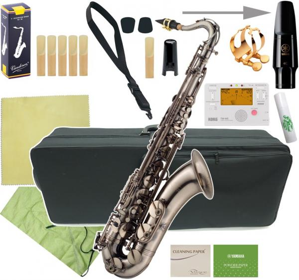 J Michael ( Jマイケル ) 【予約】  TN-1100GM 新品 アウトレット テナーサックス ガンメタリック 管体 管楽器 gun metal tenor saxophone 【 TN1100GM セットA】