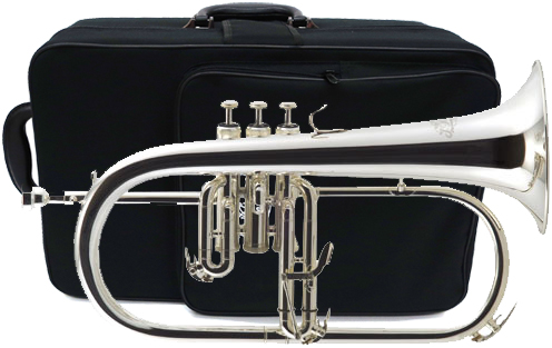 J Michael ( Jマイケル ) 訳あり シルバー フリューゲルホルン 新品 楽器 Jマイケル 本体 ケース マウスピース付き 銀メッキ 管楽器  管理品番 FG-550S アウトレット