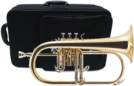 J Michael ( Jマイケル ) 訳あり ゴールド フリューゲルホルン 新品 楽器 Jマイケル 本体 ケース マウスピース付き 銀メッキ 管楽器  管理品番 FG-500 アウトレット