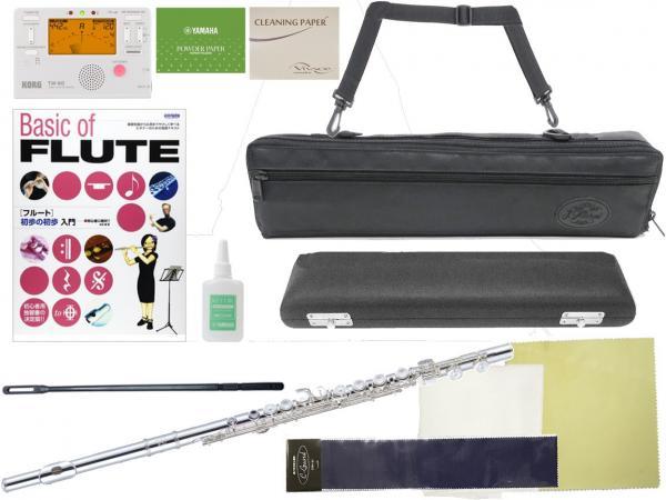 J Michael ( Jマイケル ) JFL-50CE フルート リッププレート 銀製 新品 Eメカニズム 管楽器 銀メッキ 本体 カバードキイ flute セット B