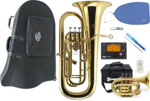 J Michael ( Jマイケル ) EU-1500 ユーフォニアム 新品 ゴールド 4ピストン 管楽器 gold euphonium ポケトラ TR-350PL EU1500 セット A 一部送料追加