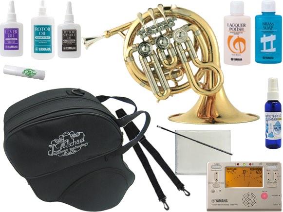 J Michael ( Jマイケル ) PFH-500 ポケットホルン 新品 ゴールド ミニ ホルン Hi B♭ 管楽器 本体 シングルホルン フレンチホルン PFH500 G セット C