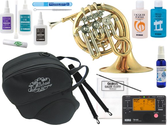 J Michael ( Jマイケル ) PFH-500 ポケットホルン ゴールド ミニ ホルン Hi B♭ 管楽器 シングルホルン フレンチホルン セット C 北海道 沖縄 離島不可