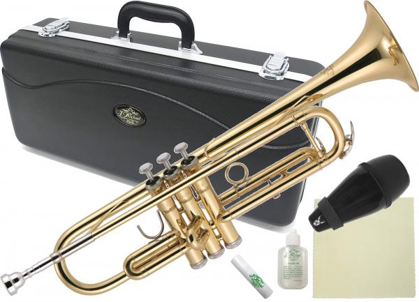 J Michael ( Jマイケル ) 送料無料 初心者 ゴールド トランペット 新品 サイレンサー 本体 マウスピース ケース 管楽器 Trumpet  【 TR-200 アウトレットA 】