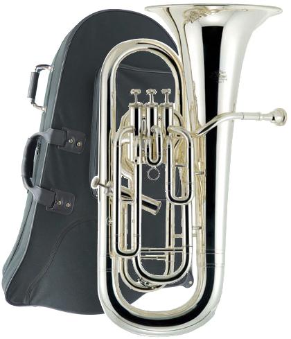 J Michael ( Jマイケル ) 送料無料 4ピストン 銀メッキ ユーフォニアム EU-1700S 新品 楽器 本体 ケース付き 初心者 管楽器 【 EU1700S アウトレット 】