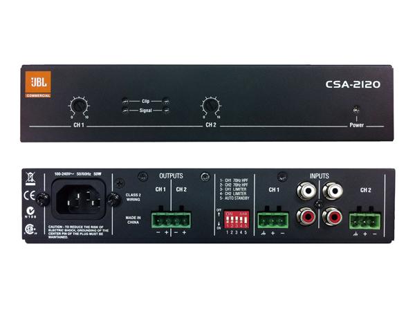 JBL ( ジェイビーエル ) CSA-2120  ◆ パワーアンプ ( ロー・インピーダンス専用 )  2ch 120W+120W