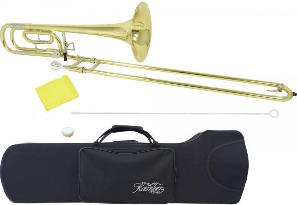 Kaerntner ( ケルントナー ) テナーバストロンボーン 細管 KTB-55 新品 B♭/F調 トロンボーン スライド 楽器 本体 ケース マウスピース付き 初心者 管楽器