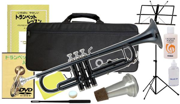 Kaerntner ( ケルントナー ) KTR-30 BK トランペット ブラック 新品 初心者 管楽器 本体 黒色 カラー B♭ Trumpets KTR30 black セット A  沖縄 離島不可