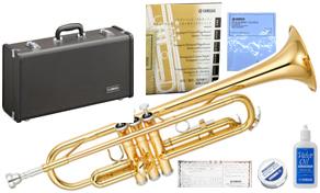 YAMAHA ( ヤマハ ) 日本製分 YTR-2330 トランペット 新品 管体 ゴールド イエローブラス ベル 管楽器 B♭ 本体 ケース マウスピース セット 初心者 スタンダード