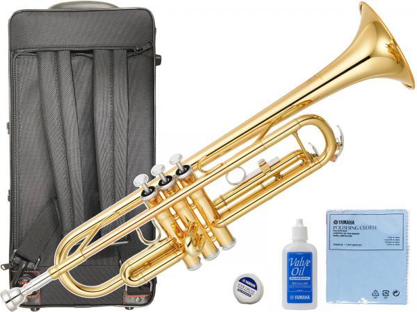 YAMAHA ( ヤマハ ) 日本製分 YTR-3335 トランペット ゴールド リバースタイプ 新品 管楽器 B♭ 管体 初心者 楽器 リバース管 本体 マウスピース ケース セット