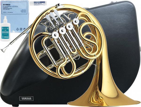 YAMAHA ( ヤマハ ) F/B♭ フルダブルホルン YHR-567 フレンチホルン 新品 4ロータリーバルブ ホルン 一体式 本体 マウスピース HR-32C4 初心者 日本製 管楽器